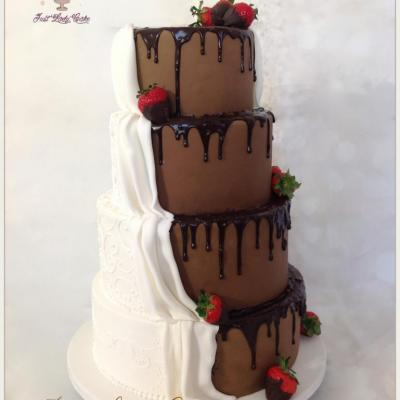 Wedding cake gourmandise