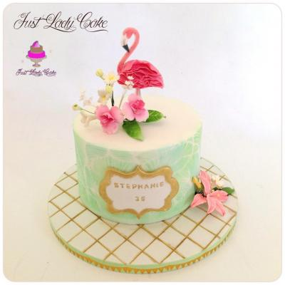 Flamingo cake - Flamant Rose