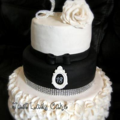 Wedding cake thème black and white