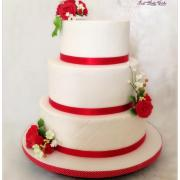 Wedding cake en rouge et blanc