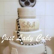 Wedding cake cinema oise noir et blanc